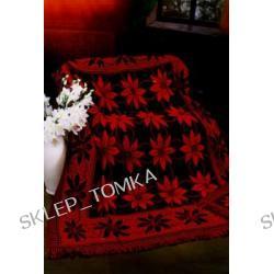 Komplet : narzuta 170x205cm, 2 narzuty na fotele 65x170cm, Czarny i czerwony słoneczniki