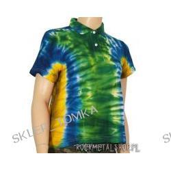 bluzeczka dziewczęca POLO barwiona GREEN/BLUE/YELLOW MIX [KPOL-129] (sz)