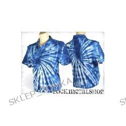 bluzka polo barwiona BLUE MIX [KPOL-112] (sz) Underground Fashion