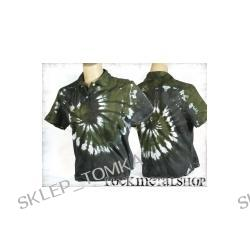 bluzka polo barwiona GREEN MIX [KPOL-097] (sz) Underground Fashion