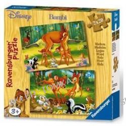 Bambi i przyjaciele - puzzle drewniane (2 x 20 elementów)