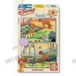 Disney Bambi - puzzle drewniane (2 x 16 elementów)