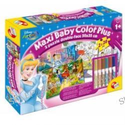 Maxi puzzle do kolorowania dla najmłodszych - Księżniczki (2 x 20 elementów)
