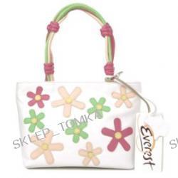 Everest White and Multi-Coloured Leather Handbag
