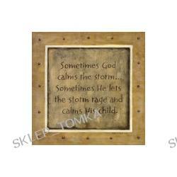 Sometimes God Calms Art Print 30 x 30 cm