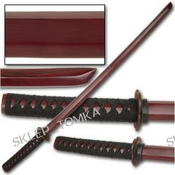 Burgundy Cord Wrapped Boken Daito Wood Practice Sword