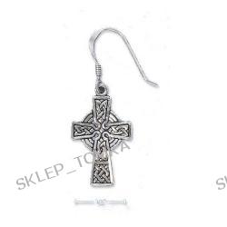 Sterling Silver Antiqued Celtic Cross Earrings (Nickel-Free)