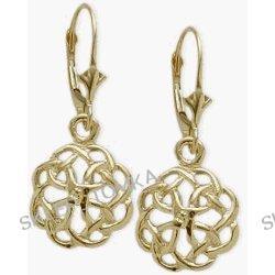 Celtic Knot 10 Karat Yellow Gold Earrings
