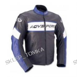AGV Sport Pilot Vented Leather Jackets - Black/Blue/White - 40