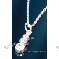 Biżuteria srebrna-C390101 Wisiorek TRIO ZIRCON PENDANT 22 x 5 mm
