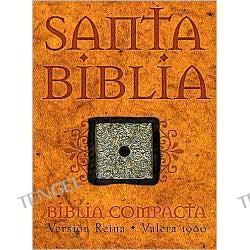 Biblia Compacta: Version Reina-Valera 1960 (RVR), piel elaborada azul con broche (Compact Bible, blue bonded leather with snap flap closure)