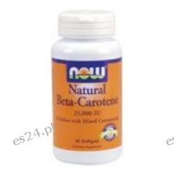 NOW Foods - Beta Carotene (Natural) D-Salina with Mixed Carotenoids 25,000 IU - 90 Softgels