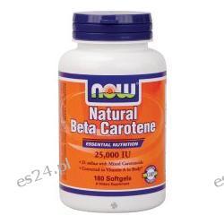 NOW Foods - Beta Carotene (Natural) d.salina with Mixed Carotenoids 25,000 IU - 180 Softgels