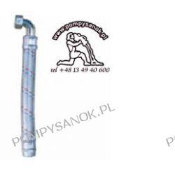 Wąż antywibracyjny 70cm  z kolanem Pompy i hydrofory