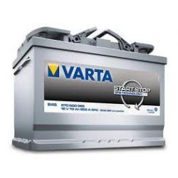 AKUMULATOR  WROCLAW 70Ah 650A  VARTA START STOP  E45 EFB  570500065B602...