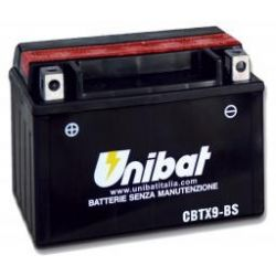 akumulator HONDA CD250 U,CH125 Spacy,CH150 Elite,CHA125T,CR750 45,Deauville,FES150,FX650 CBTX9-BS UNIBAT 8Ah 120A 12V ...