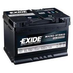 AKUMULATOR EXIDE  EL700 70Ah 630A  START STOP  MICRO-HYBRID ECM  WROCLAW (1)...