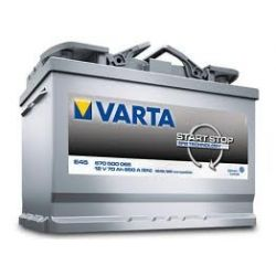 AKUMULATOR 70Ah 650A  VARTA START STOP  E45 ALFA ROMEO  GIULIETTA (940)  FIAT DOBLO (263)...