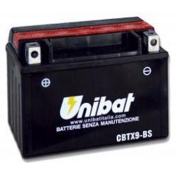 akumulator HONDA NT650 Hawk GT, NX650,NT650V,NTV600,NTV650 Revere,NV400C,NV600C,NX500,NX650,NX650 Dominator CBTX9-BS UNIBAT 8Ah 120A 12V ...