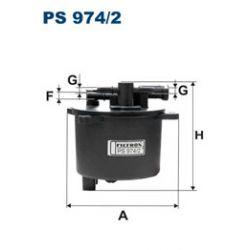 filtr paliwa Mitsubishi OUTLANDER II 2.2 DI-D Mitsubishi OUTLANDER III 2.3 DI-D PS 974/2...