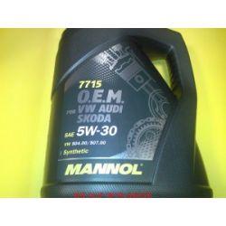 Olej MANNOL OEM VW 504/507 5W30 5l VW AUDI SKODA SEAT...
