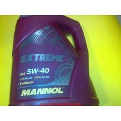 olej MANNOL 5W40 5W-40 EXTREME 5L Mercedes MB 229.3, MB 226.5...