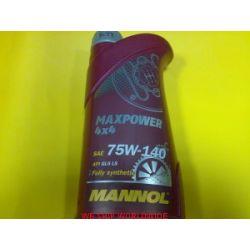 Olej przekładniowy MANNOL Maxpower 4x4 75W140 75W-40 GL-5 LS LSD 1L...