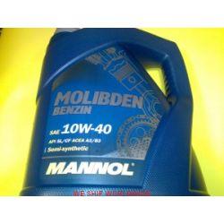 olej 10W40 z molibdenem Mannol Benzin 4l do zużytego silnika...