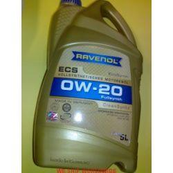 olej Ravenol 0W-20 ECS 5l Ford WSS-M2C947-A, GM 6094M, Honda/Acura HTO-6, Chrysler MS-6395...