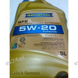 olej silnikowy RAVENOL SFE 5W-20 5W20 5l FORD WSS-M2C930-A, FORD WSS-M2C930-B