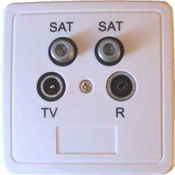 Gniazdo końcowe 2*SAT / TV / FM