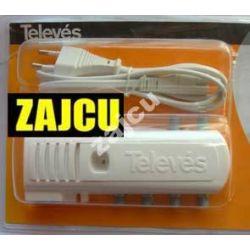 Wzmacniacz domowy Televes 16dB 1wejście  4 wyjścia + TV Nr katalogowy 5523