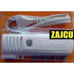 Wzmacniacz domowy Televes 20dB 1wejście 2 wyjścia + TV Nr katalogowy 5522