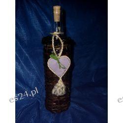 Butelka na nalewkę z ozdobną zawieszką