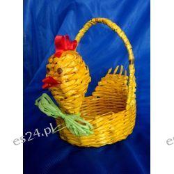 Koszyczek - kurczaczek z papierowej wikliny