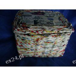 Koszyk z ulotek - papierowa wiklina