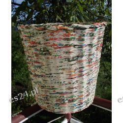 Kosz na śmieci z papierowej wikliny