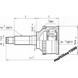 VOLVO V40 S40 1,6-2, 0 1,9TD TDI PRZEGUBY NAPĘDOWE