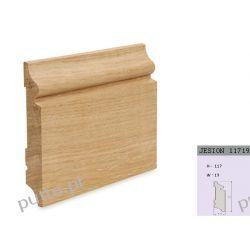 Cokół wysoki-frezowany-listwa podłogowa drewniana-drewno jesion-rozmiar-117/19