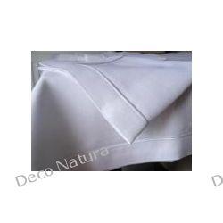 Lniany Obrus uszyty z tkaniny lnianej 100% len ozdobiony lamówką. Rozmiar 100cm x 140cm