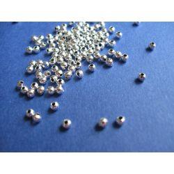 Posrebrzane kuleczki 2,4 mm kulki gładkie