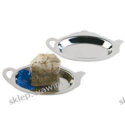 Tacka stalowa na zużyte torebki herbaty