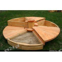 Drewniana piaskownica dla dzieci