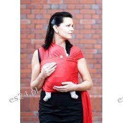Chusta do noszenia dzieci, elastyczna - Rubinowa - rozmiar L
