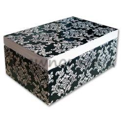 drewniane pudełko z motywem orientalnym