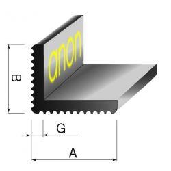 Kątownik aluminowy aluminiowe ozdobny 20x20x2,5