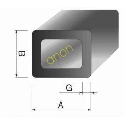 Aluminiowa aluminium rury profile profil 20x10x1,5