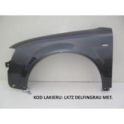 Błotnik lewy Audi A4 B6 LX7Z Grafit X7Z