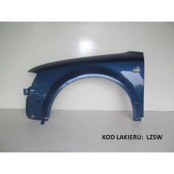 Błotnik lewy AUDI A4 B6 00-04 LZ5W niebieski Z5W