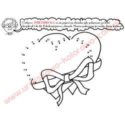 Serca - połącz kropki - wersja drukowana